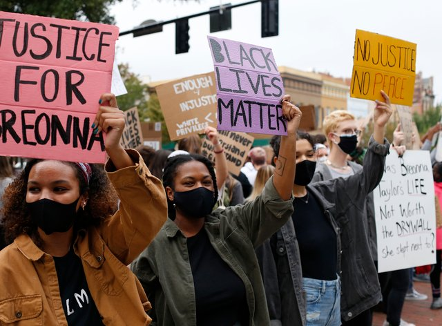 University of Georiga students lead a Black Lives Matter protest in memory of Breonna Taylor
