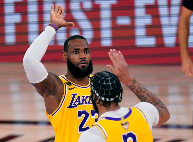 LeBron James and Anthony Davis led the Los Angeles Lakers to a game one victory