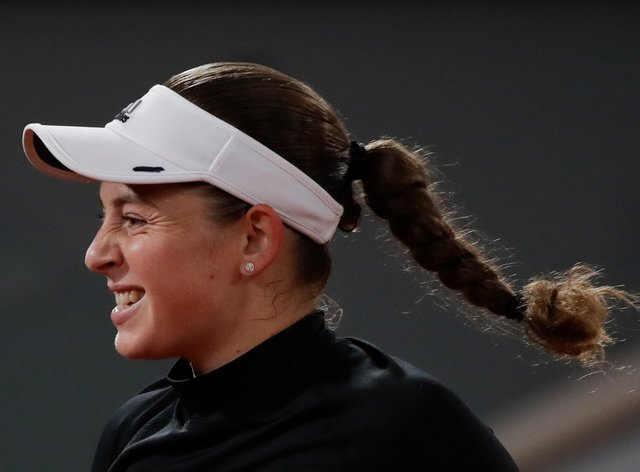Jelena Ostapenko pulled off the biggest result of the day