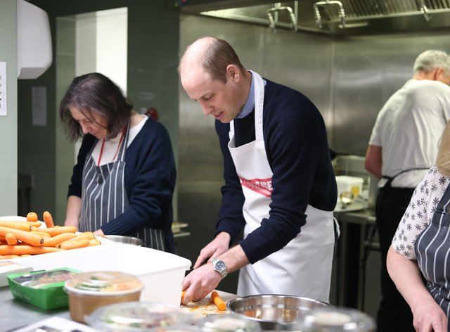The Duke of Cambridge helps out at The Passage