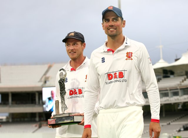 Sir Alastair Cook (right) has been named in the PCA's team of the year.