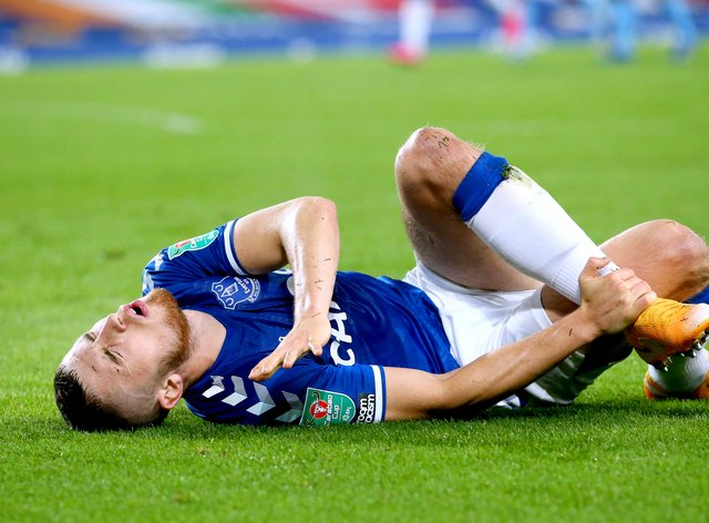 Everton defender Jonjoe Kenny is likely to be out for four weeks with an ankle injury