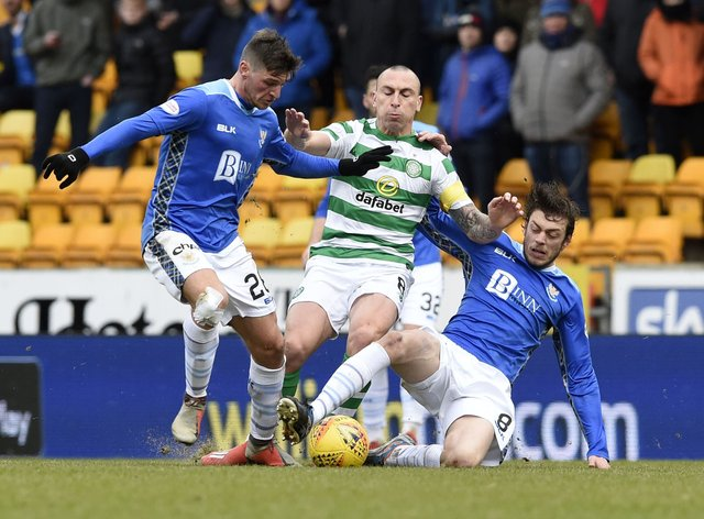 Murray Davidson, right, is determined ahead of the Celtic clash
