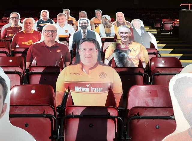 Cardboard cut-outs have replaced fans as sports clubs suffer financially