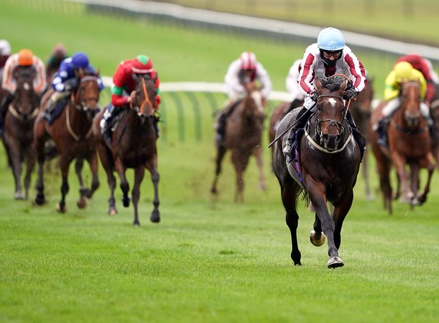 Just Frank landed a big pot in fine style at Newmarket
