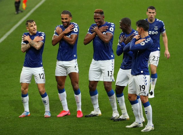 Everton celebrated in style