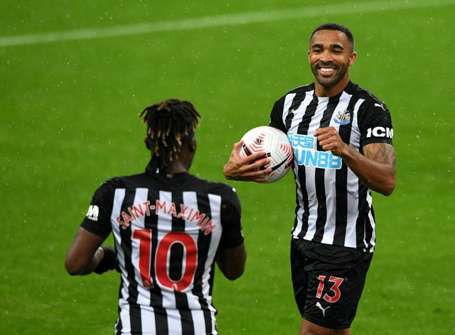 Callum Wilson, right, continued his hot goalscoring form since joining Newcastle