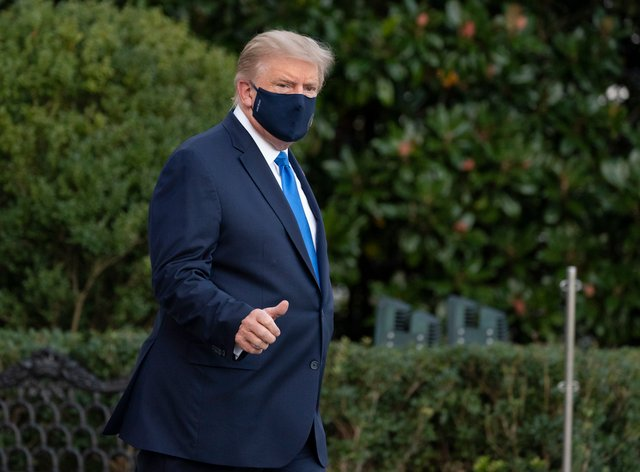 President Donald Trump was taken to hospital on Friday