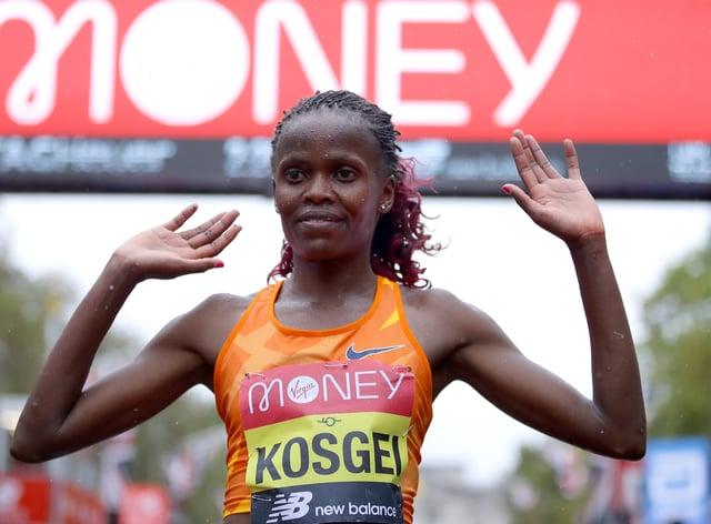 Brigid Kosgei defended her London Marathon title