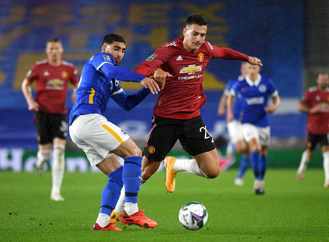 Diogo Dalot, right, has gone out on loan