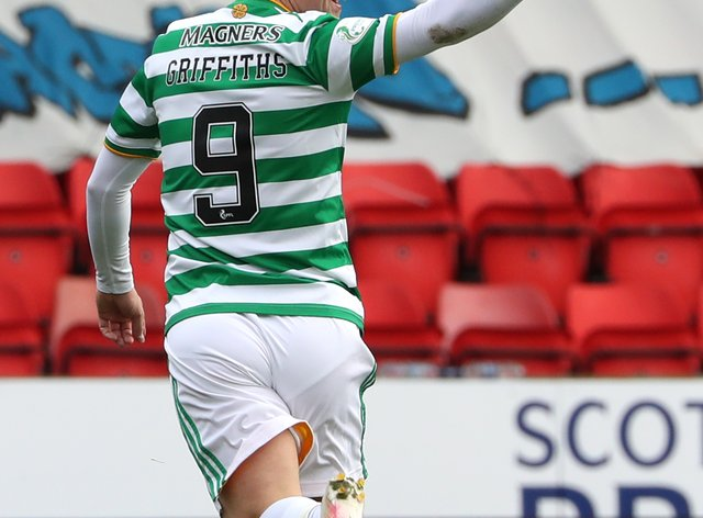Celtic manager Neil Lennon was happy to see Leigh Griffiths (pictured) back