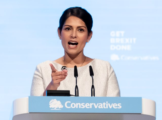 Home Secretary Priti Patel said there was 'no excuse' for the behaviour seen in recent protests