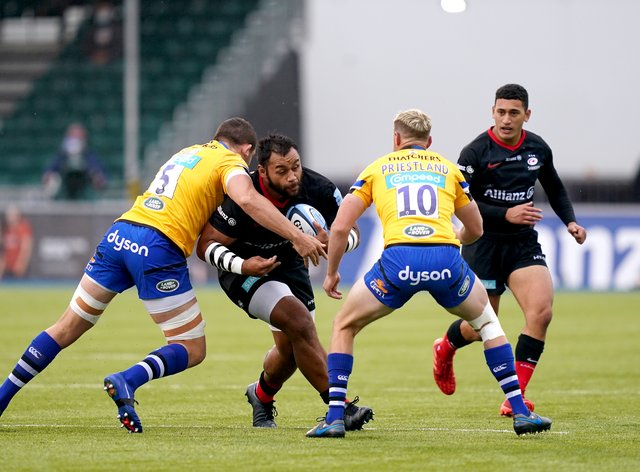 Saracens came from 17-3 down to draw 17-17 with Bath