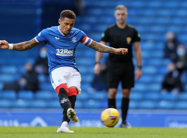 Rangers' James Tavernier scores his eighth goal in eight games