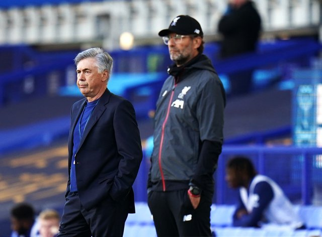 Carlo Ancelotti's Everton take on Jurgen Klopp's Liverpool after the international break