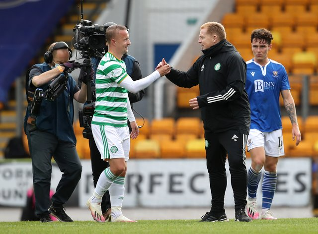 Leigh Griffiths, left, admitted that he let the club down over his lack of fitness after lockdown