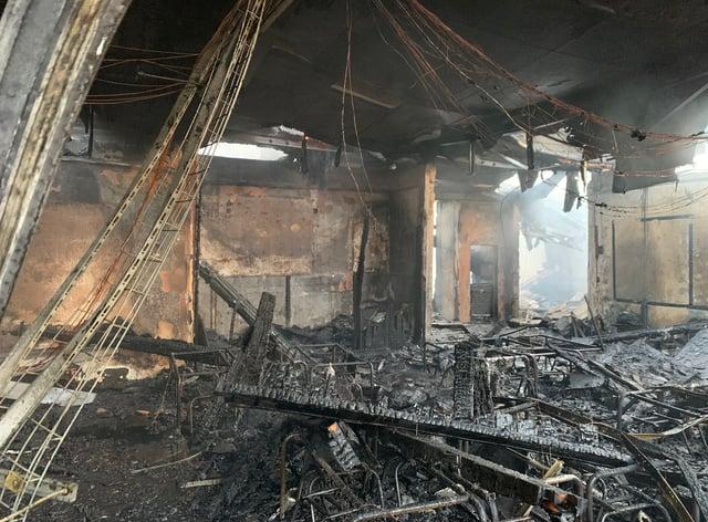 Fire damage at Ravensdale Infant School
