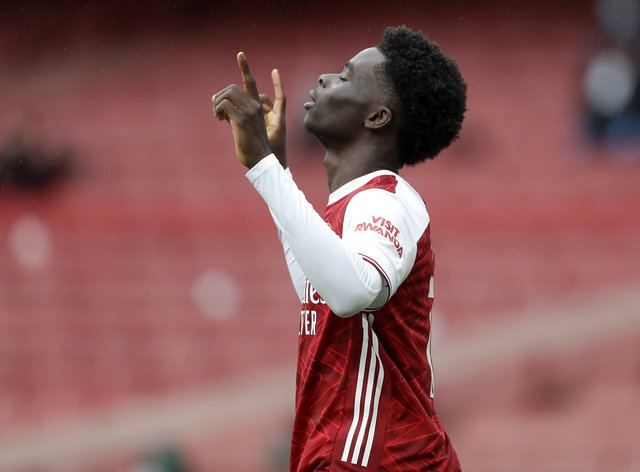 Bukayo Saka enjoyed a dream week following his England call-up and first home goal for Arsenal