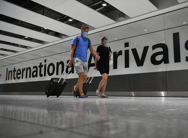 An arrivals hall