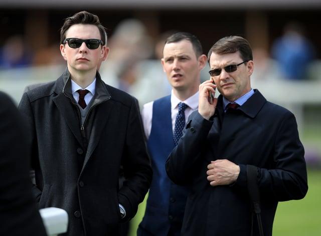 Aidan O'Brien (right) with son Joseph O'Brien (left)