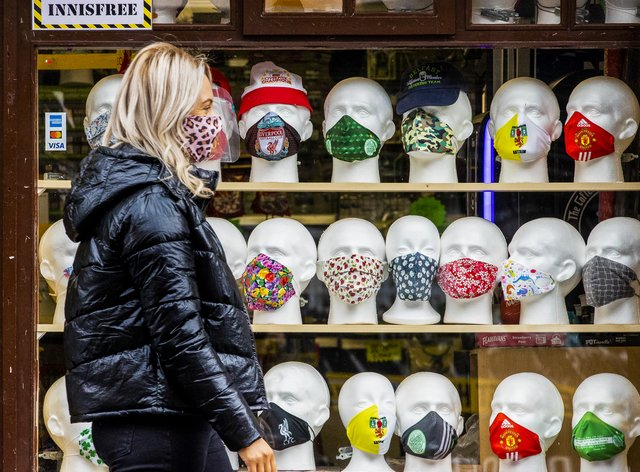 A shop selling facemasks