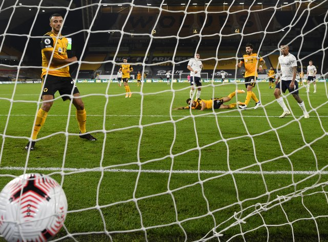 Phil Foden scores Manchester City's second goal against Wolves