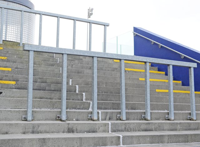 An empty grandstand at Dundalk racecourse