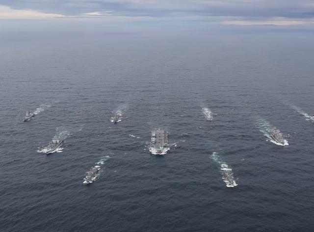 The full UK Carrier Strike Group