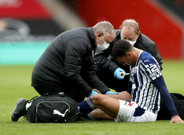 Hal Robson-Kanu received medical attention during the clash with Southampton but continued playing for West Brom in the 2-0 defeat