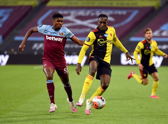 Danny Welbeck (right) has scored three goals in 20 appearances for Watford (Justin Setterfield/NMC Pool/PA).