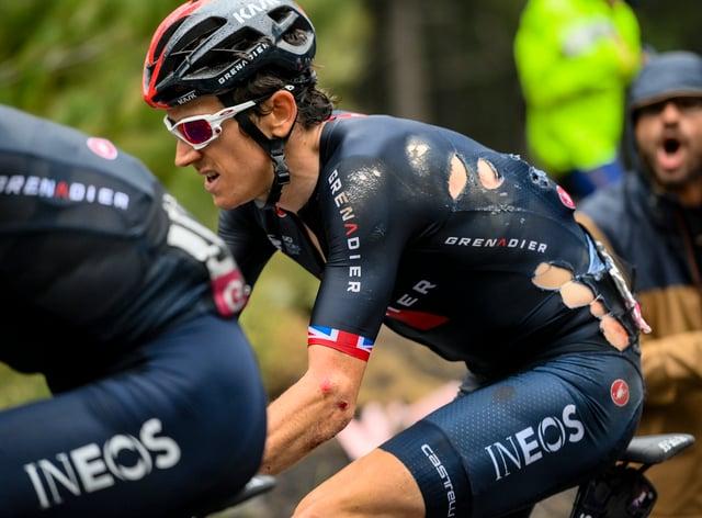 Geraint Thomas has withdrawn from the Giro d'Italia following Monday's crash
