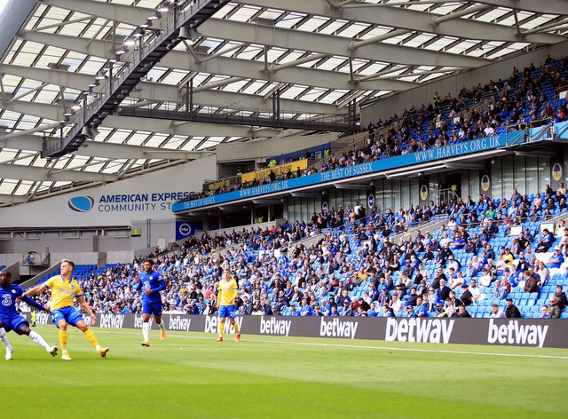Brighton had staged a pilot event for a pre-season friendly against Chelsea