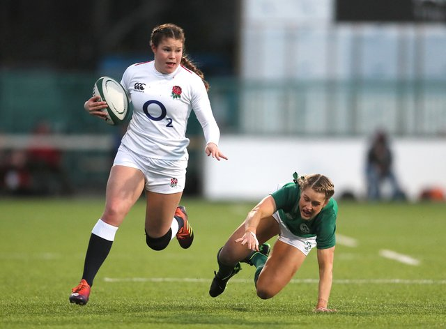 England's Jess Breach has re-signed for Quins