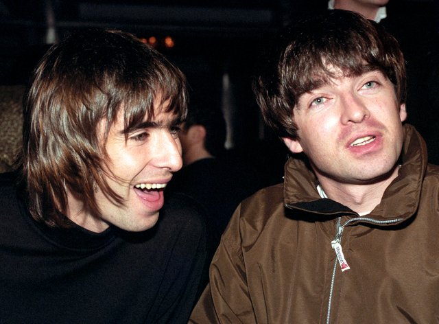 Noel (right) and brother Liam (left) were the centre-pieces of the band's success