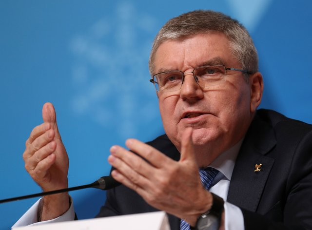 IOC president Thomas Bach was in upbeat mood about Tokyo 2020 on Wednesday