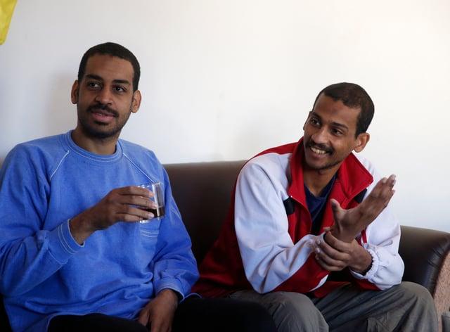 Alexanda Amon Kotey, left, and El Shafee Elsheikh