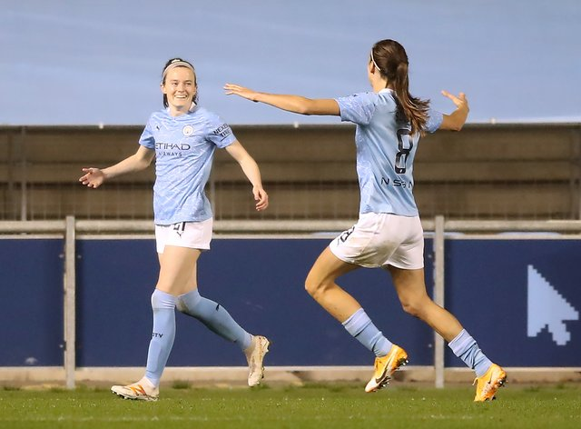 Lavelle (left) struck shortly after half-time to begin the City turnaround