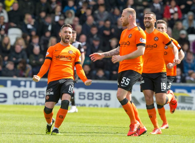 Nicky Clark, left, and Cammy Smith hit doubles for Dundee United