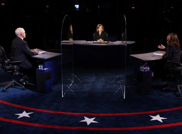 The vice presidential debate: the candidates were separated by plexiglass barriers