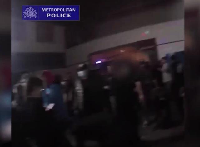 Police footage of the rave raid