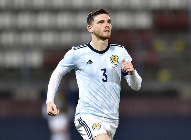 Robertson will lead Scotland against Israel