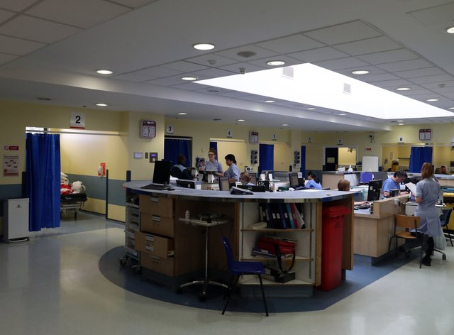 General view of the accident and emergency department at Kingston Hospital (Steve Parsons/PA)