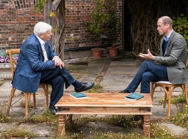 Sir David Attenborough and the Duke of Cambridge