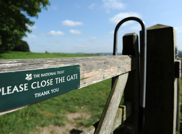 National Trust gate sign