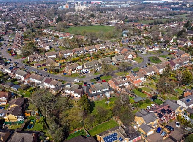 A aerial view of Leverstock Green, near Hemel Hempstead (Steve Parsons/PA)