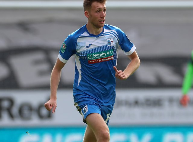 Barrow's James Jones has been sidelined after sustaining damage to his ankle ligaments