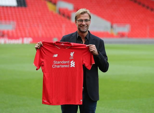 Jurgen Klopp was celebrating his fifth anniversary as Liverpool boss