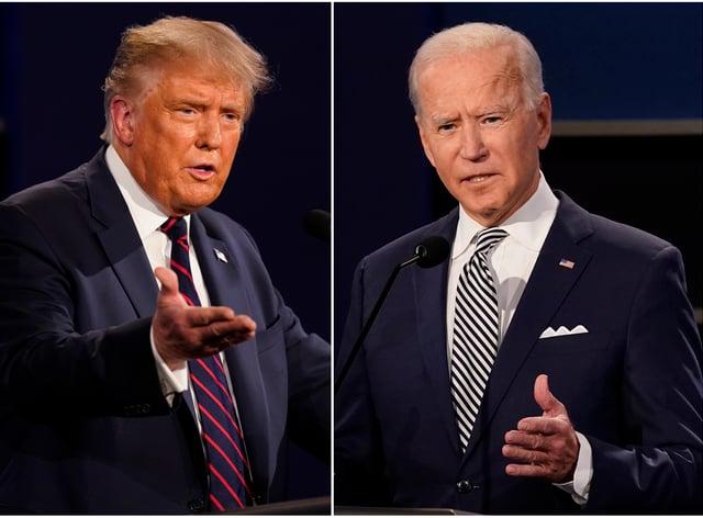 Donald Trump said he will skip next week's debate with Joe Biden if it is virtual