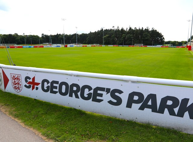 An under-19 fixture between England and Scotland was halted during the first half