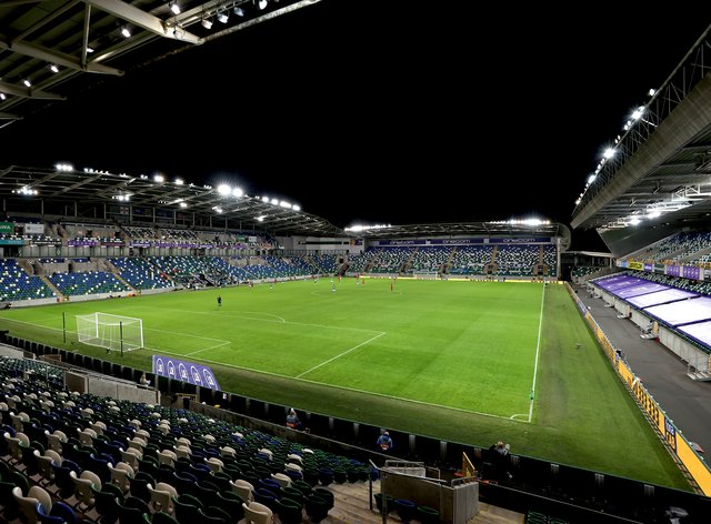 Six hundred fans will be allowed in to Windsor Park for Sunday's match against Austria